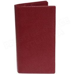 Portefeuille-documents cuir Rouge-bordeaux Beaubourg