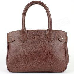 Mini sac Cabas Shopping Paris cuir Marron Beaubourg