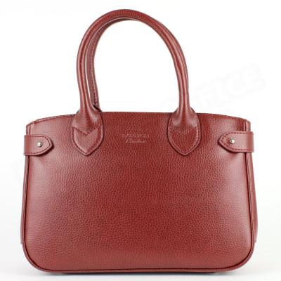 Mini sac à main Paris cuir Rouge Bordeaux Beaubourg