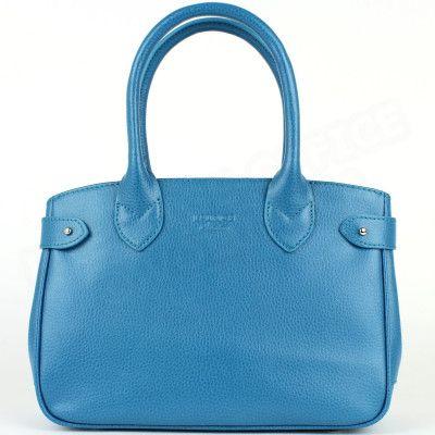 Mini sac à main Paris cuir Bleu-turquoise Beaubourg