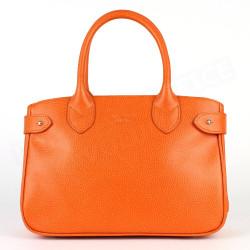 Mini sac Cabas Shopping Paris cuir Orange Beaubourg