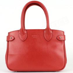 Mini sac Cabas Shopping Paris cuir Rouge Beaubourg