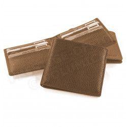 Porte cartes et billets cuir Marron Beaubourg