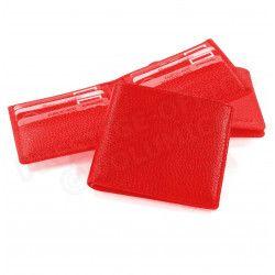 Porte cartes et billets cuir Rouge Beaubourg