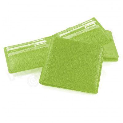Porte cartes et billets cuir Vert anis Beaubourg