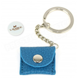 Porte-clés caddie cuir Bleu-turquoise Beaubourg