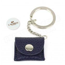 Porte-clés caddie cuir Bleu-marine Beaubourg