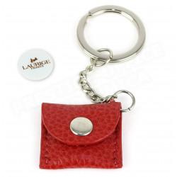 Porte-clés caddie cuir Rouge Beaubourg