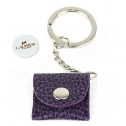 Porte-clés caddie cuir Violet Beaubourg