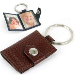 Porte-clés photos cuir Marron Beaubourg