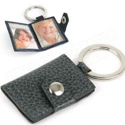 Porte-clés photos cuir Gris Beaubourg