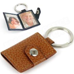 Porte-clés photos cuir Gold Beaubourg