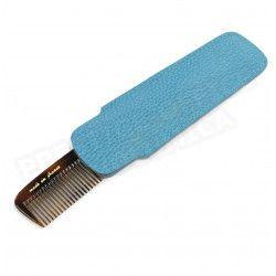 Etui peigne cuir Bleu-turquoise Beaubourg