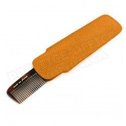Etui peigne cuir Orange Beaubourg