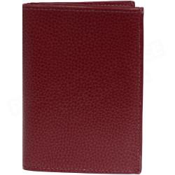 Portefeuille 1 volet cuir Rouge-bordeaux Beaubourg