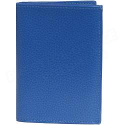 Portefeuille 1 volet cuir Bleu-turquoise Beaubourg