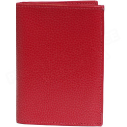 Portefeuille 1 volet cuir Rouge Beaubourg