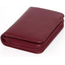 Portefeuille zip cuir Rouge-bordeaux Beaubourg