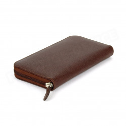 Portefeuille Frenchy cuir Marron Beaubourg