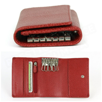 Porte-monnaie à clefs cuir Rouge Beaubourg