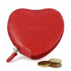 Porte-monnaie Coeur cuir Rouge Beaubourg