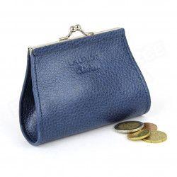 Porte-monnaie Fermoir cuir Bleu-marine Beaubourg