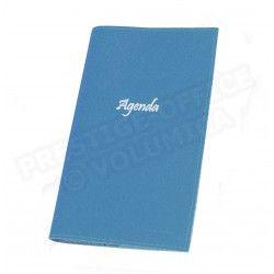 Agenda de poche cuir Bleu-turquoise Beaubourg