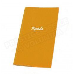 Agenda de poche cuir Orange Beaubourg