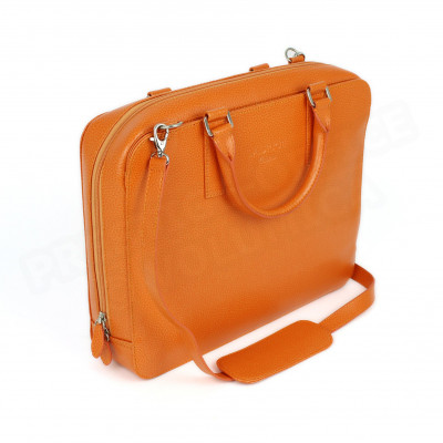Mini serviette PC cuir Orange Beaubourg