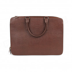 Serviette 2 Compartiments cuir Marron Beaubourg