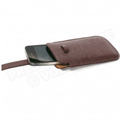 Etui smarphone universel cuir Marron Beaubourg