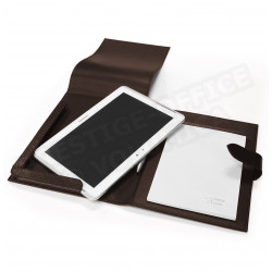 Etui tablette universel A5 cuir Marron Beaubourg