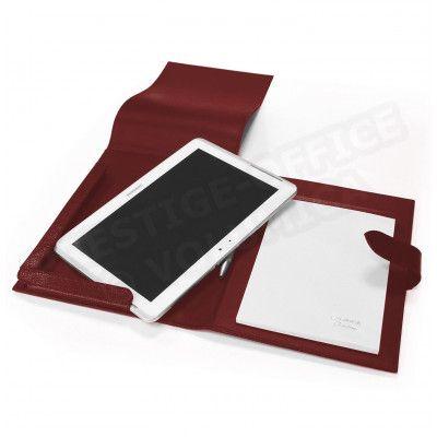 Etui tablette universel A5 cuir Rouge Bordeaux Beaubourg