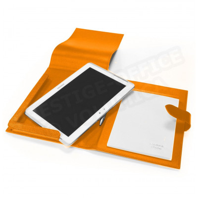 Etui tablette universel A5 cuir Orange Beaubourg