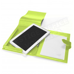 Etui tablette universel A5 cuir Vert-anis Beaubourg
