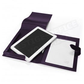 Etui tablette universel A5 cuir Violet Beaubourg