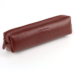 Trousse carrée cuir Rouge-bordeaux Beaubourg