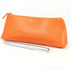 Trousse triangulaire cuir Orange Beaubourg