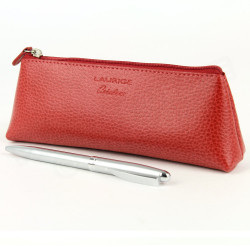 Trousse triangulaire cuir Rouge Beaubourg