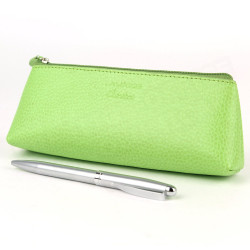Trousse triangulaire cuir Vert-anis Beaubourg