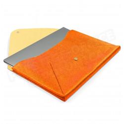 Etui Mac book air cuir Orange Beaubourg