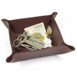 Vide-poche maison cuir Marron Beaubourg
