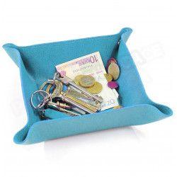 Vide-poche maison cuir Bleu-turquoise Beaubourg