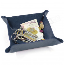 Vide-poche maison cuir Bleu-marine Beaubourg