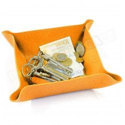 Vide-poche maison cuir Orange Beaubourg