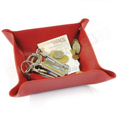 Vide-poche maison cuir Rouge Beaubourg