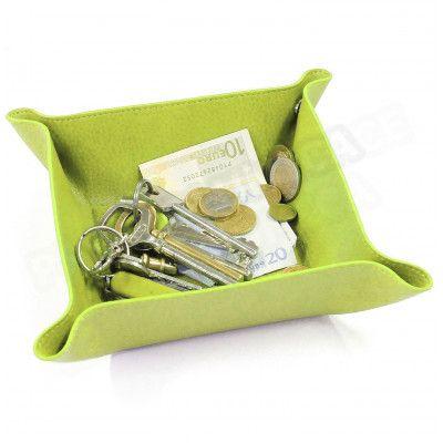 Vide-poche maison cuir Vert anis Beaubourg