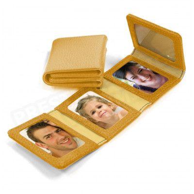 Album Photos zig-zag cuir Gold Beaubourg