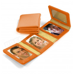 Album Photos zig-zag cuir Orange Beaubourg