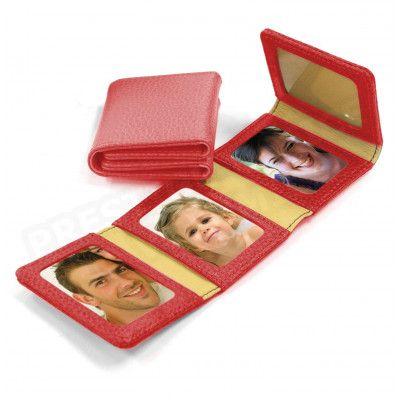 Album Photos zig-zag cuir Rouge Beaubourg